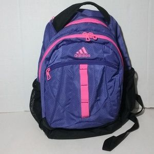 Adidas Purple and Flourescent Pink Large Backpack